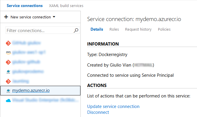 Service connection to Docker Registry in Azure DevOps